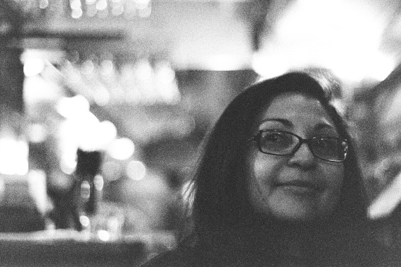 Film shot with ambient and push processed.